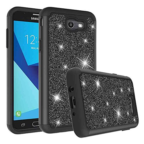 (Galaxy J7 V/Galaxy J7 Sky Pro Case, Galaxy J7 Perx Case, Galaxy Halo Case, SuperbBeast Glitter Sparkly Bling Shockproof Hybrid Defender Dual Layer Armor Protective Case for Samsung Galaxy J7)