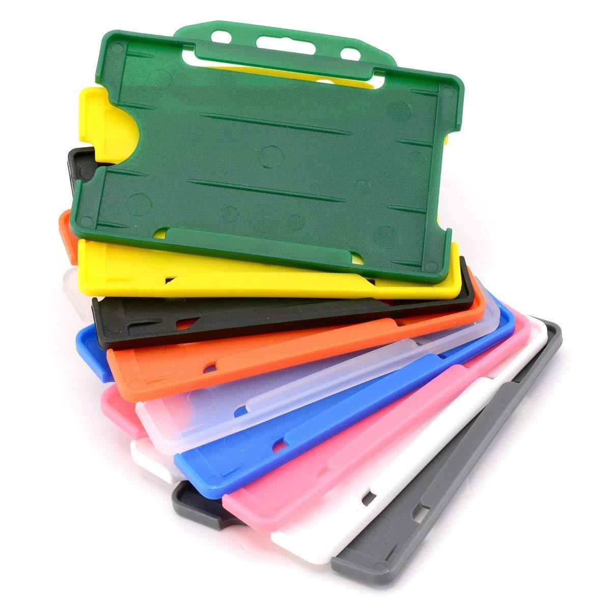 /contiene fino a 86/mm 54/mm CR80/da carta di credito Green Lato singolo rigido scorrevole con lato aperto porta badge orizzontale//paesaggio identit/à plastica passo Protector/