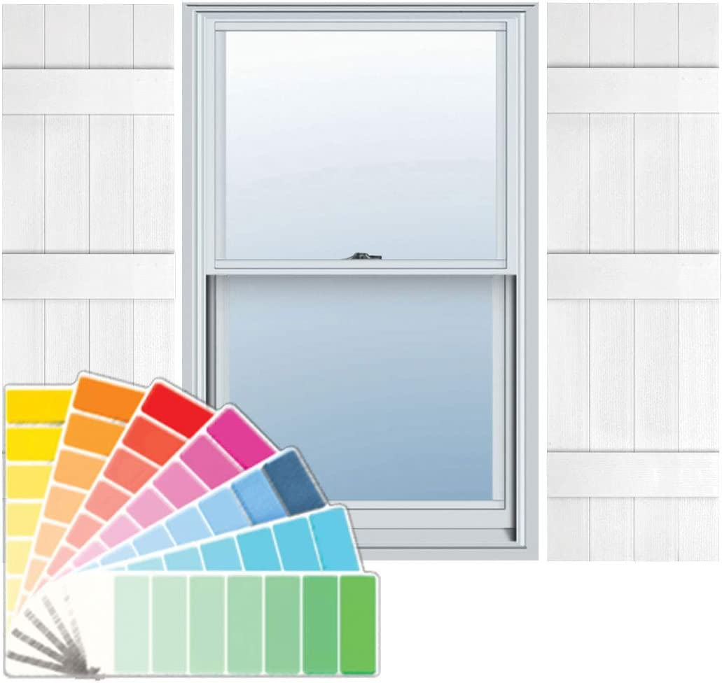 White Builders Choice EVB14051WH Shutters 14 x 51
