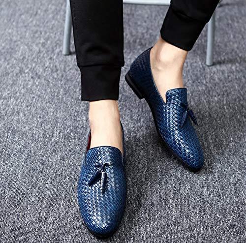 casuale scamosciato Uomo scarpe particolarmente Uomini Dimensione Extra stile PU 48 Blu Bebete5858 Inghilterra Pelle Grande vqP0xwz
