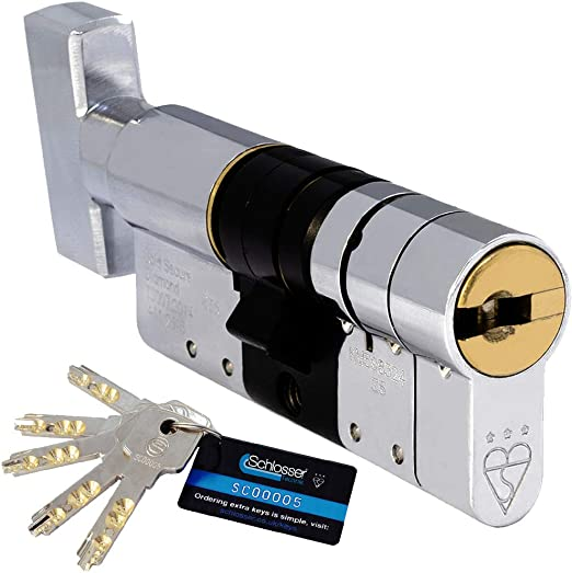 Schlosser Technik 3 Star High Security Euro Cylinder TS007 Sold Secure Diamond Secured by Design Police Approved 40T//55