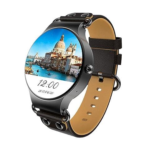 LCTCSB Reloj Inteligente Bluetooth con función de Voz, Tarjeta SIM Relojes Inteligentes con frecuencia cardíaca