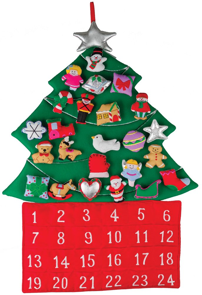 Christmas Tree Fabric Advent Calendar (Countdown to Christmas) Vermont Christmas Company