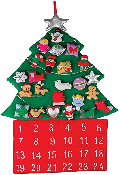 Christmas Countdown Calendar.Christmas Tree Fabric Advent Calendar Countdown To