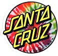 Santa Cruz Tie Dye Skateboard Sticker 8 x 7.5cm new sk8 Hippy 60s Flower Power