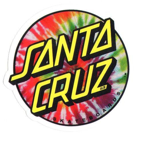 Santa Cruz Tie Dye Skateboard Sticker 8 x 7.5cm new sk8 Hippy 60s Flower Power (Cruz Santa Stickers)