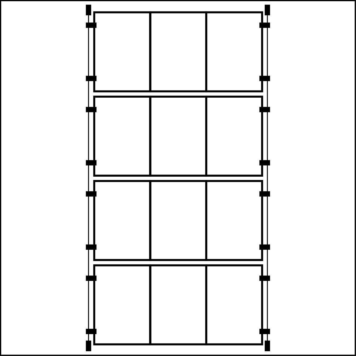 Espositori da vetrina con 3 tasche verticali in formato A4, con supporto a filo, 4 pezzi Plasticraft Displays Ltd