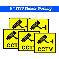 Docooler 5pcs/lot Safurance Waterproof Sunscreen Security Camera Sticker Warning Decal Signs For CCTV Surveillance, Fake Camera And Dummy Camera Labels