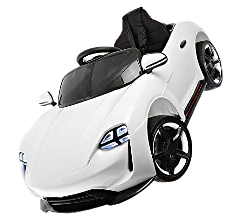 Coche de juguete para niños, eléctrico, de 12 V, con ruedas de goma