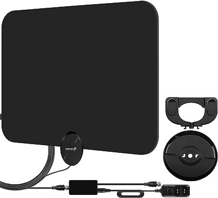 UHF//VHF//1080p 4K White Indoor Digital TV HDTV Antenna 80 Miles 2019 Latest