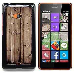"Qstar Arte & diseño plástico duro Fundas Cover Cubre Hard Case Cover para Nokia Lumia 540 (Madera Retro"")"