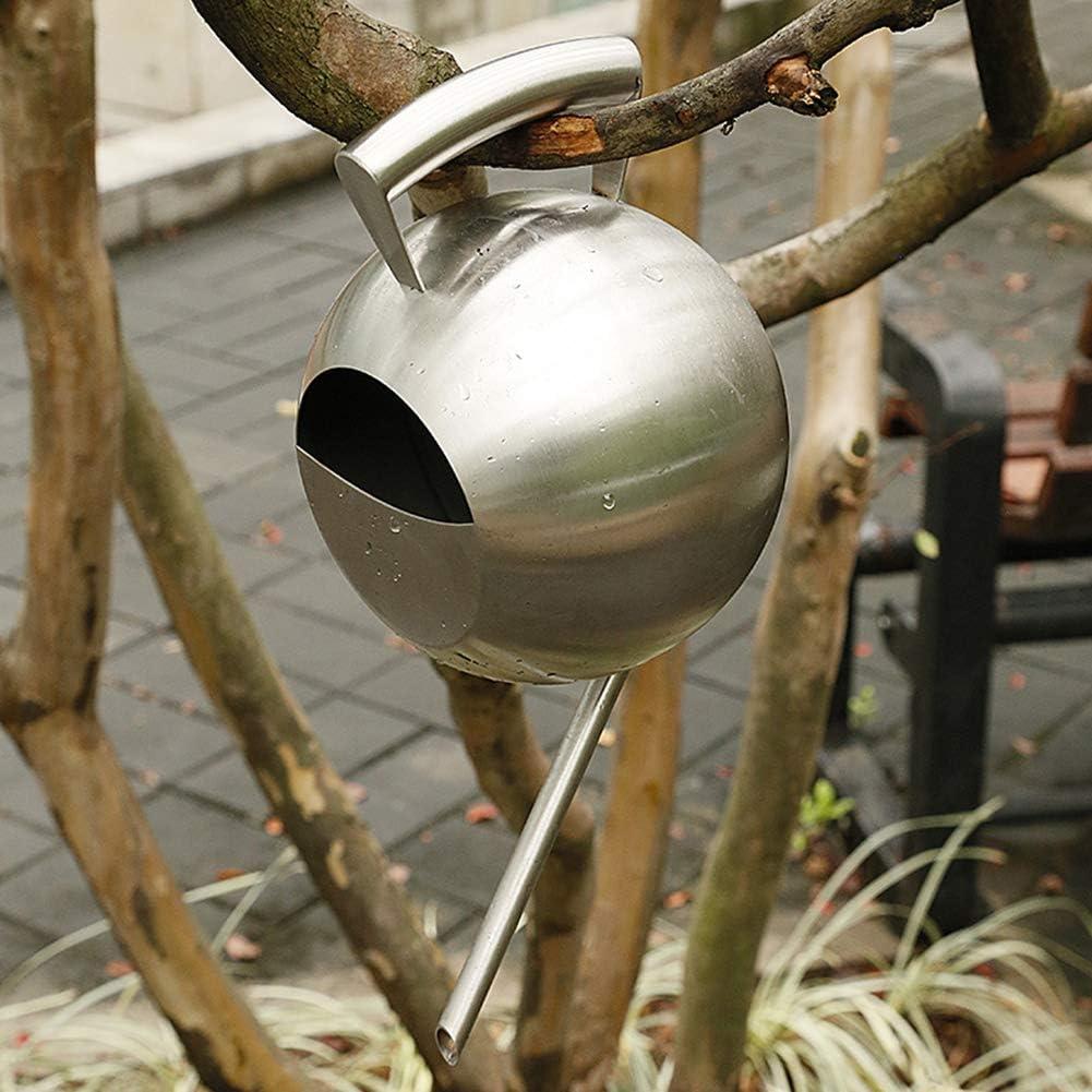 modern geb/ürstetes Finish mit langem Auslauf Wasserkanne f/ür Gartenpflanzen Cozyhoma Gie/ßkanne aus Metall 1500 ml massiver Edelstahl