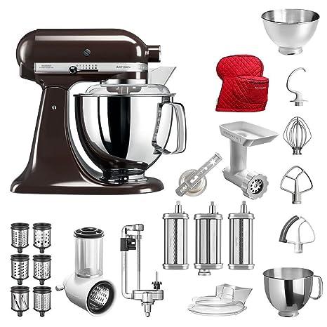 les dernières nouveautés luxe Royaume-Uni disponibilité KitchenAid Robot da Cucina Artisan, 5KSM175PS, pacchetto ...