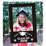 DPIST 2018 Graduation Photo Booth Props Picture Frame Cutouts-Upgraded Version Sturdy Enough Not Need to Worry Flimsy Anymore,graduation party supplies 2018