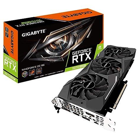 Image result for Gigabyte GeForce RTX 2070 Super Windforce 8G Graphics Card, 3X WINDFORCE Fans, 8GB 256-Bit GDDR6, GV-N207SWF3OC-8GC Video Card