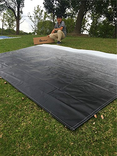 Fabric Size 15Feet 2 Inch Awnlux Replacement Vinyl Fabric for 16 Feet RV Camper Awning Black Fade Color