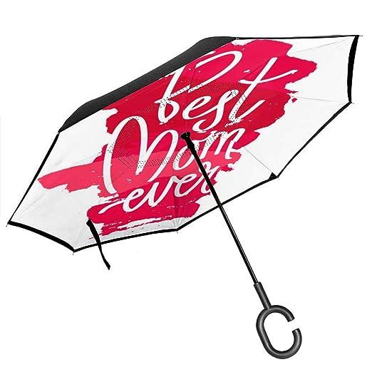 Csiemns Best Mom Ever Paraguas invertido invertido al revés ...