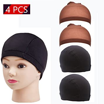 Nice 1 Pcs Double Lace Wig Caps For Making Wigs And Hair Weaving Stretch Adjustable Wig Cap Hot Black Dome Cap For Wig Hair Net Street Price Tools & Accessories