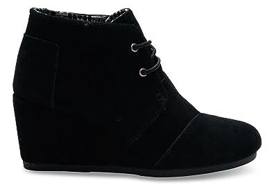 101c99e348cc4 TOMS Desert Wedge Boot - Women's (35-36 M EU / 5 B(M) US, Black Suede)