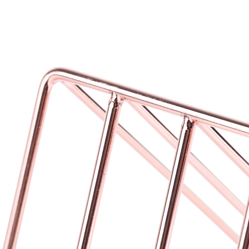 Prettyia Simple Stylish Metal Desktop Bookshelf, Book Stand Rack, Book Holder, Rose Gold by Prettyia (Image #6)
