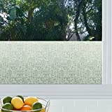 StickPretty Cityscape Privacy Window Film - UV Protection and Heat Control - Static Window Cling for Office Home Bathroom Kitchen Glass Door Non-Adhesive (36'' x 48'')
