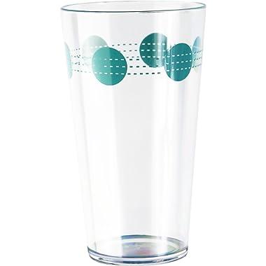 Corelle Coordinates by Reston Lloyd South Beach Acrylic Tumbler Glasses (Set of 6), 19 oz, Clear