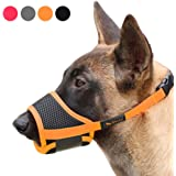 RAINDEE Dog Muzzle Nylon Soft Muzzle Anti-Biting Barking Secure,Mesh Breathable Pets Muzzle for Small Medium Large Dogs…