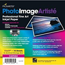 ProMaster Artiste Canvas Inkjet Paper, 100% Cotton 11x17 10 sheets Matte Surface. by ProMaster
