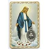 Vierge Miraculeuse - Carte médaille avec prière - Livraison gratuite