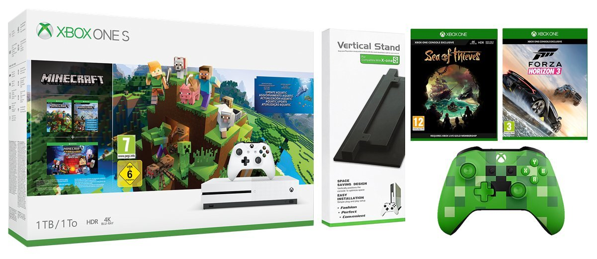 Xbox One S 1TB Console Sea of Thieves Bundle with Vertical
