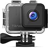 APEMAN Trawo Action Cam 4K WiFi 20MP Ultra HD sott'acqua Impermeabile 40M Videocamera con 170 °Ultra Grandangolare Sensore di Angolo Panasonic EIS Stabilizzazione Doppia 1350mAh Batterie
