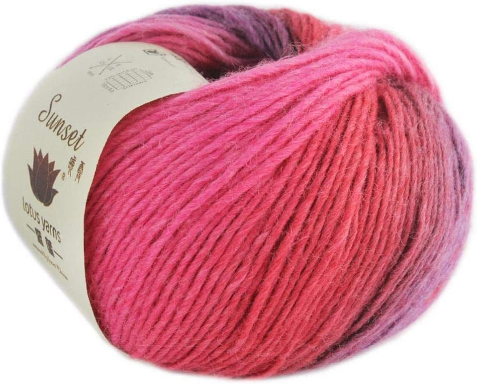 Pink to White Gradient-fuzzy yarn-Laceweight-Alpaca Bliss