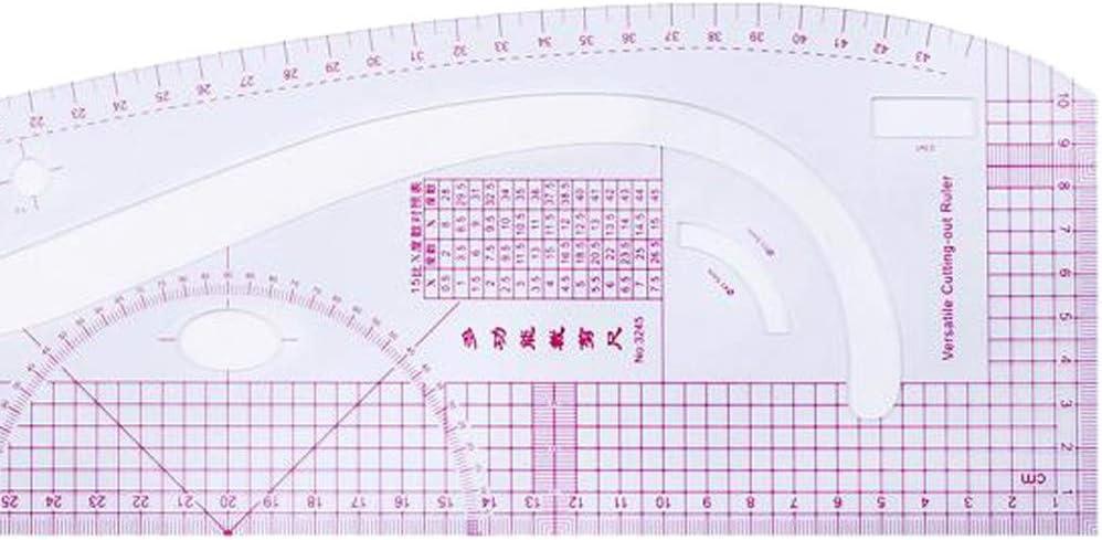 IPOTCH Kleidung Mode Lineal 7 St/ücke Franz/ösisch Gebogene Lineal Set Grading Lineale Messger/ät F/ür Schneiderei Muster Design Zeichnungsvorlage Mehrzweck Sc