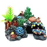 YaptheS Ocultación de Acuario Resina Coral Fish Cueva Refugio Submarino Paisaje de la decoración del Acuario Resina Coral…