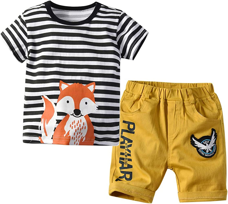 bebé niños Tops y Pantalones Cortos de Animal, camias Rayas de ...
