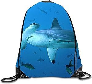 Hammerhead Shark Gym Sack Bag Sport Drawstring Tote School Travel Sackpack