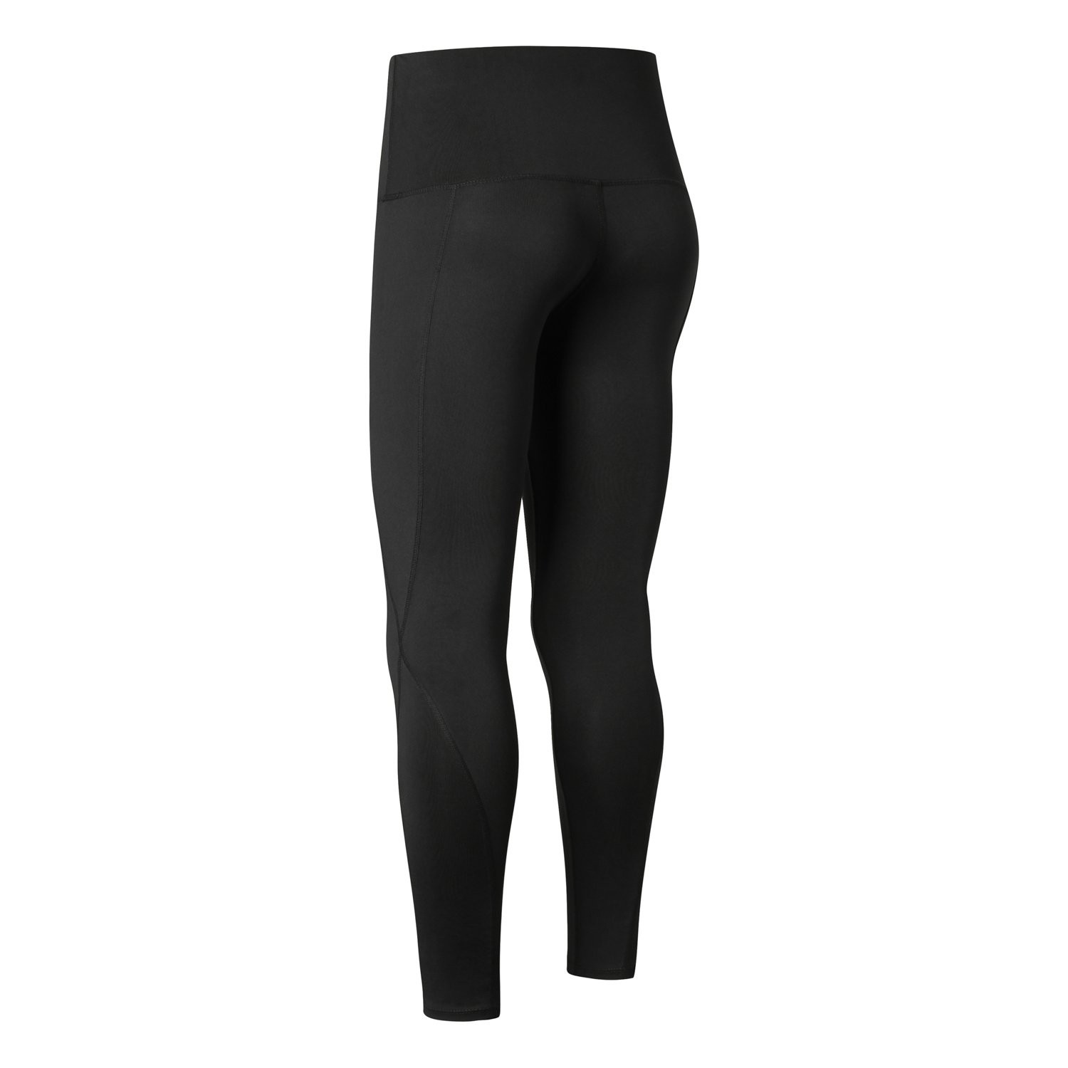 Antreween Women High Waisted Athletic Leggings with Pocket Running Sports Gym Workout 4 Way Stretch Yoga Pants (Black-One Side Pocket, L)