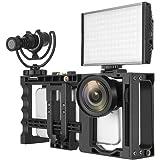 Zectiスマートフォン対応ビデオリグ 調整可能な映画制作ビデオリグ ビデオ制作者 映画撮影者向け iPhone、サムスン他、ほとんどの携帯電話に対応