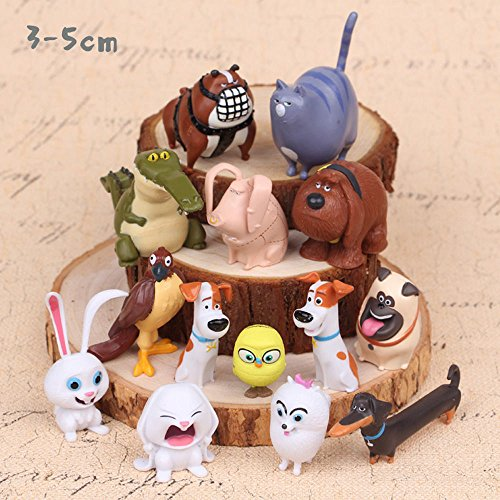 The Secret Life of Pets Blind Bag 14 PCS Movie Dog Toys PVC Mini Action Figures