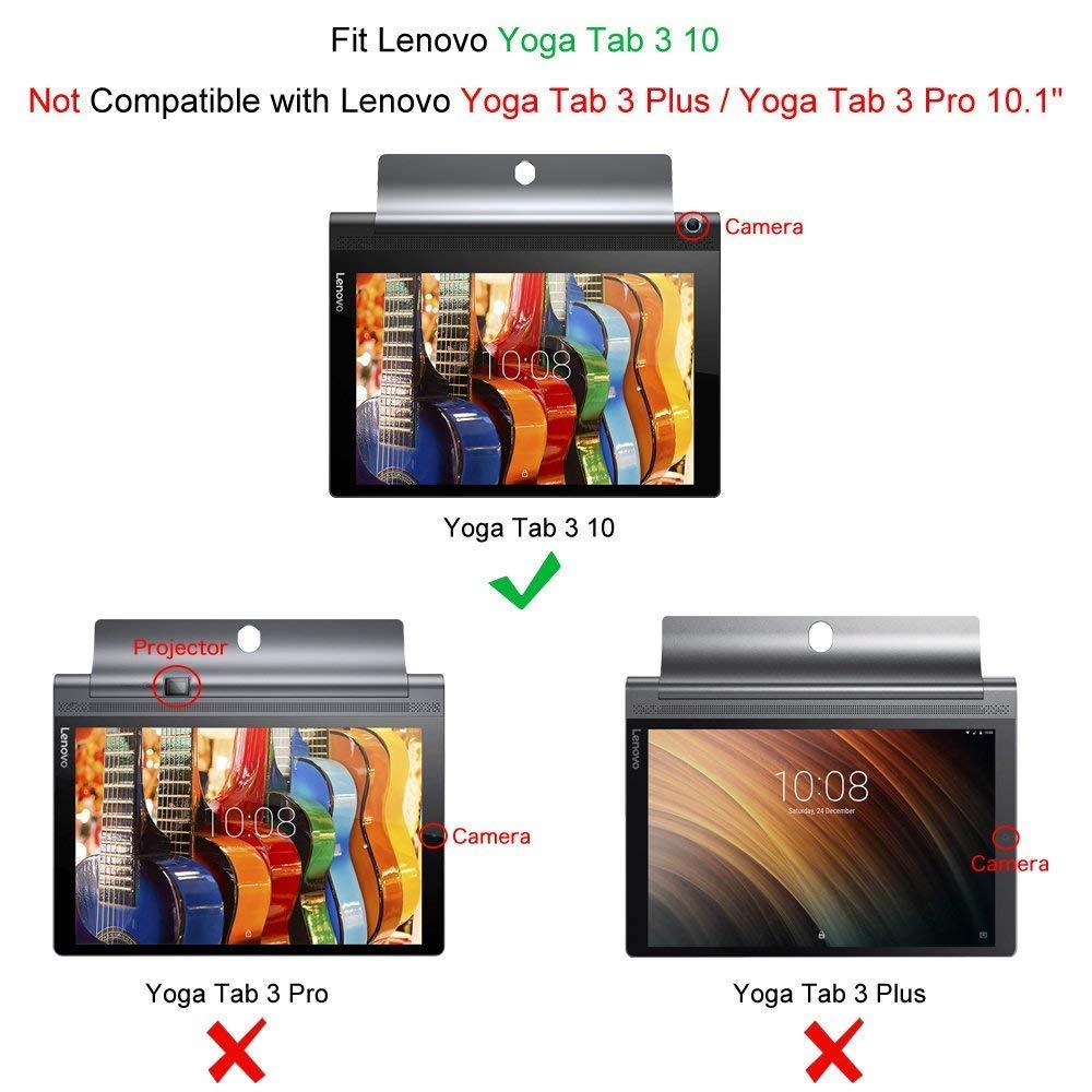 Kepuch Custer Funda para Lenovo Yoga Tab 3 10.1 X50L X50F,Slim Smart Cover Fundas Carcasa Case Protectora de PU-Cuero para Lenovo Yoga Tab 3 10.1 X50L ...