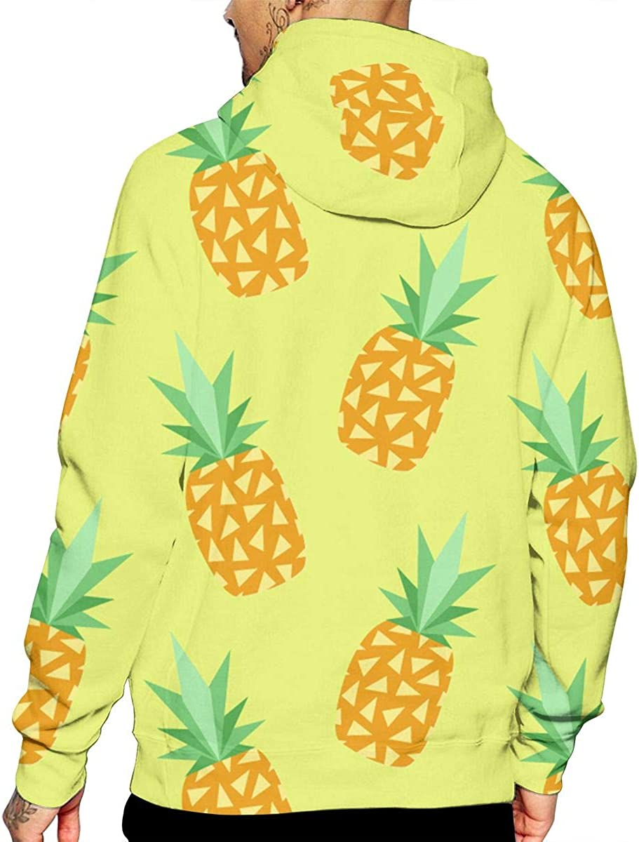 Cute Pineapple T-Shirt Hooded with A Pocket Rope Hat Customization Fashion Novelty 3D Mens