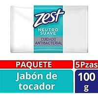 Zest 7506306238510 Jabón de Tocador, Cuidado Neutro, 100 gr, Paquete de 5 Piezas