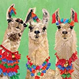 Paperproducts Design PPD 1332790 Llama Amigos Lunch Paper Napkins, 6.5'' x 6.5'', Multicolor