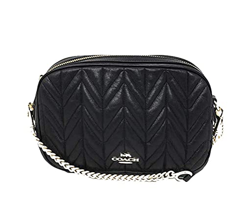 e66bc17880bd Coach Isla Chain Crossbody With Quilting (Black Light Gold)  Amazon.co.uk   Shoes   Bags