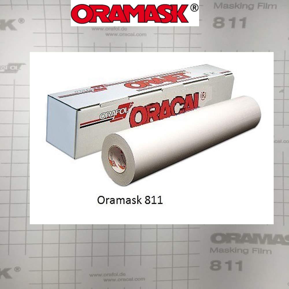 Greenstar ORAMASK 811 Paint/Spray Mask Stencil Film, Removable Adhesive - 30'' x50YD