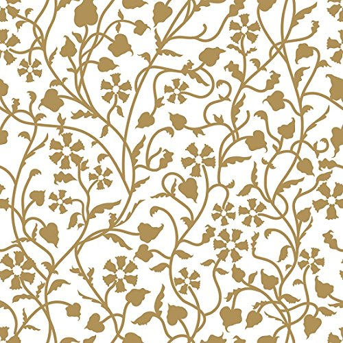 Con-Tact Brand Creative Covering Adhesive Vinyl for Lining Shelves and Drawers, Decorating and Craft Projects, 18'' x 60', Mercedes Antique Gold by Con-Tact Brand