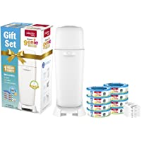 Playtex Diaper Genie Baby Registry Gift Set, Includes 1 Diaper Genie Complete Diaper Pail, 8 Diaper Genie Refills and 8 Diaper Genie Carbon Filters for Odor Control