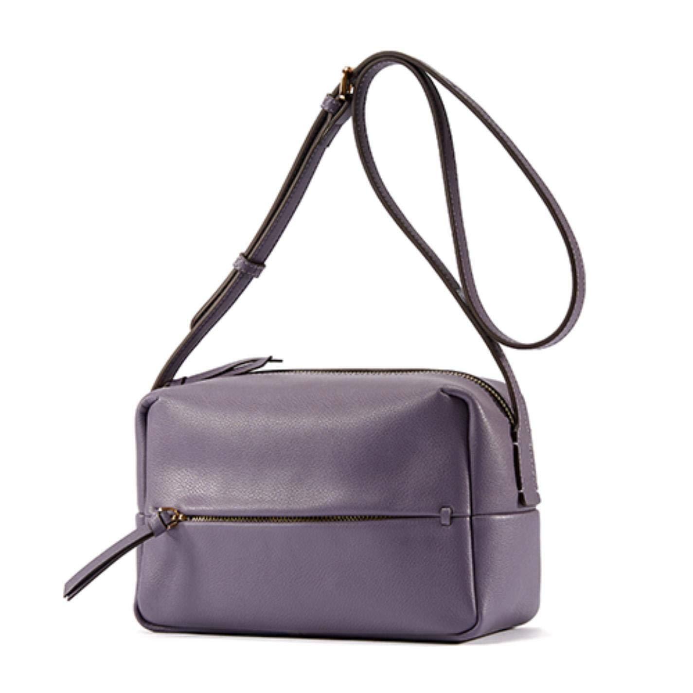 Women's split leather simple style shoulder bag