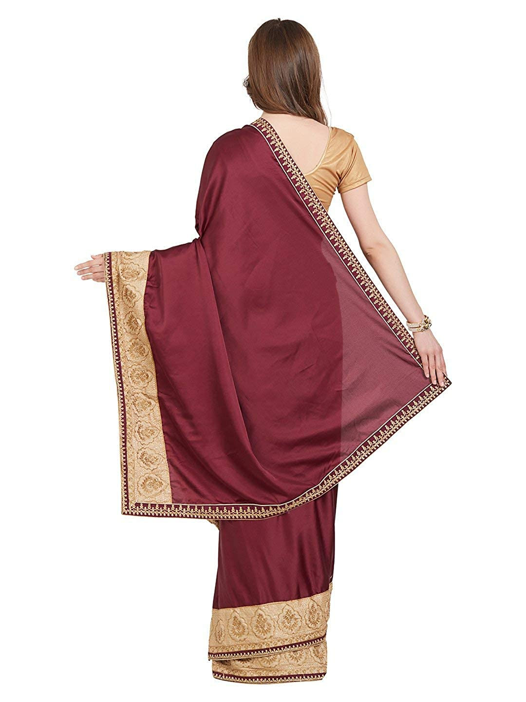Artificial Silk and Georgette Saree with Blouse Piece