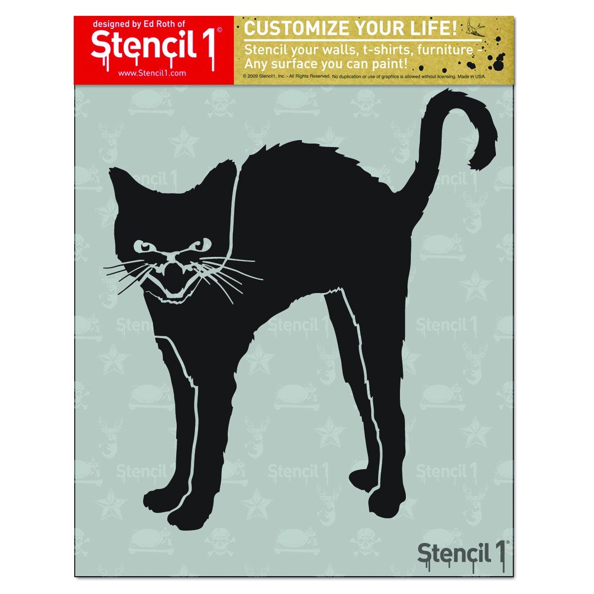 Stencil1 8.5''X11'' Stencil-Black Cat